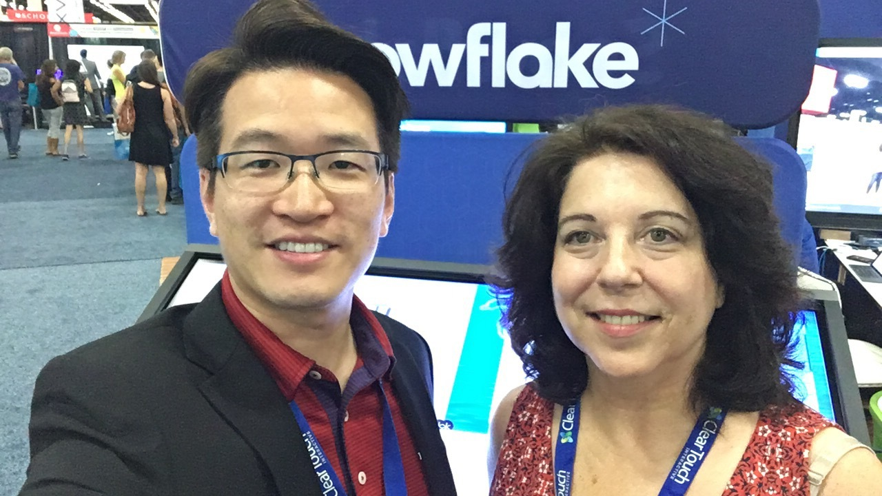 Lynn and Dr. ET at ISTE17
