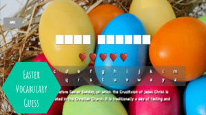 Easter vocabulary guess 2