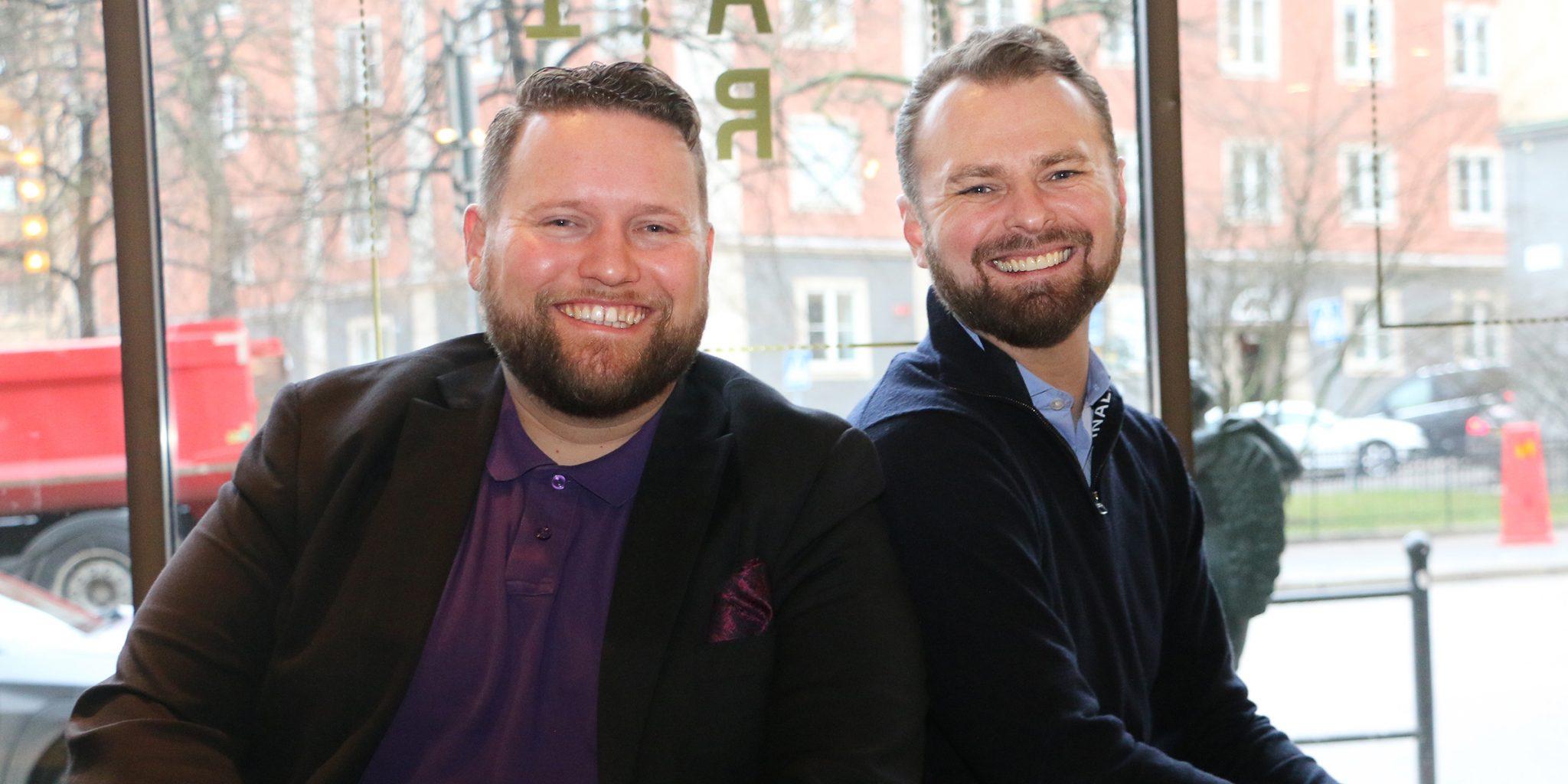 NUITEQ CEO, Harry van der Veen and Personalkollen's,Niclas Lundell