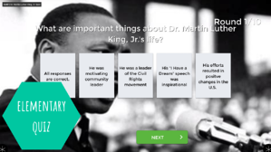 Martin Luther King quiz