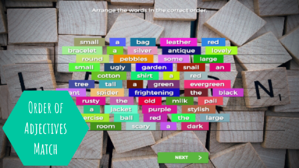 Order of Adjectives _ Discussion Starter_ Match