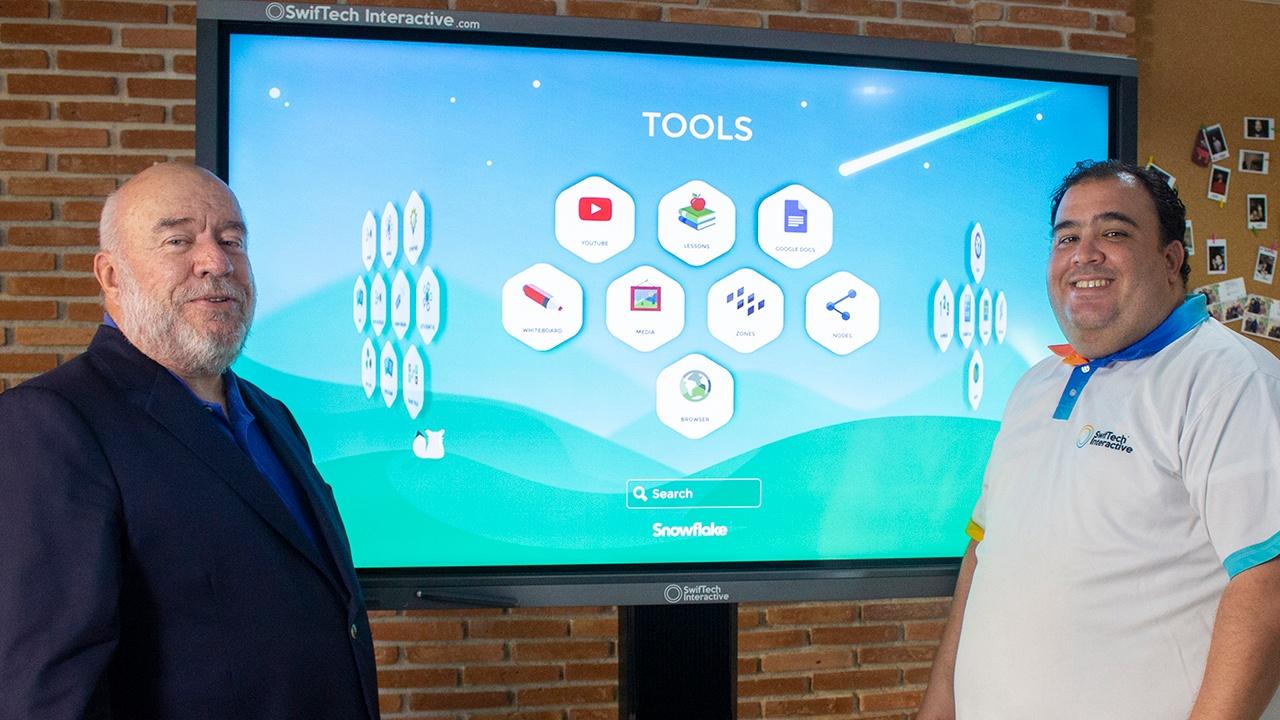 Snowflake MultiTeach on SwifTech touchscreen