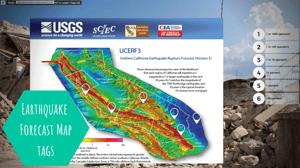 california earthquake forecast map