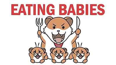 eating babies thumb