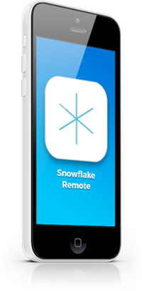 Snowflake remote on iPhone