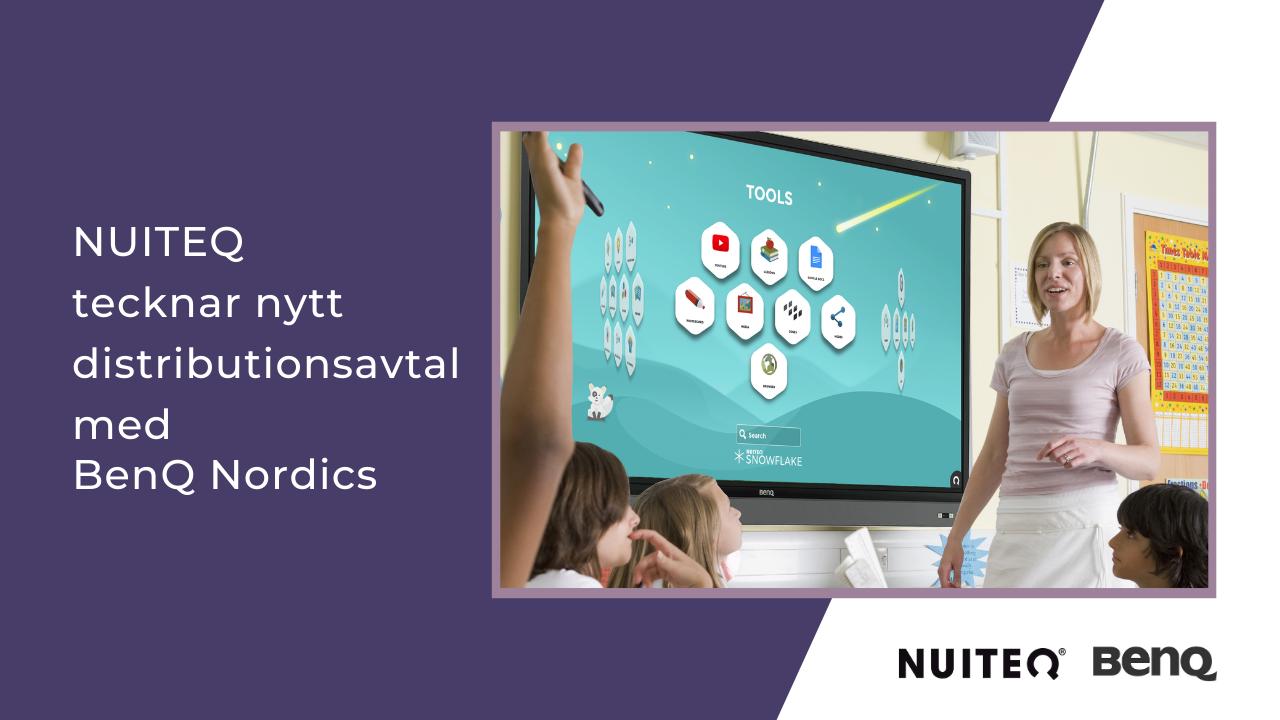 NUITEQ tecknar distributionsavtal med BenQ Nordics