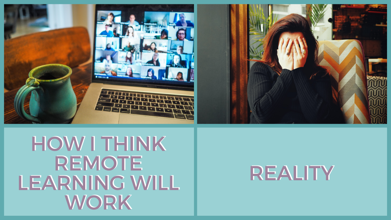 remote learning expectations vs. reality