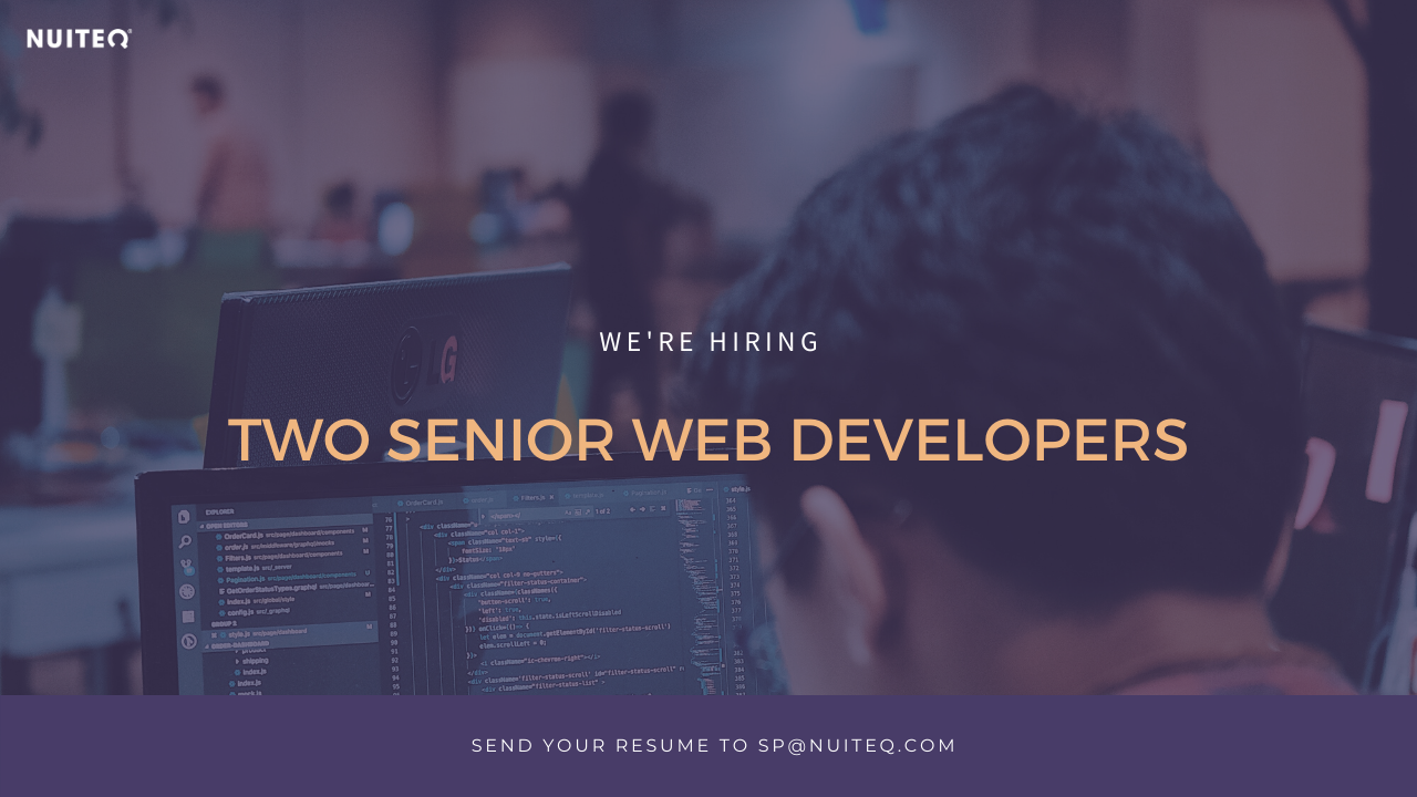 senior web developer job poster