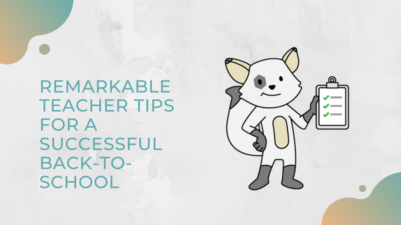 Teacher tips for a succesful back-to-school